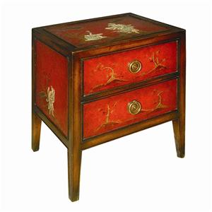 Theodore Alexander Tables 2 Drawer Bedside Chest Lamp Table