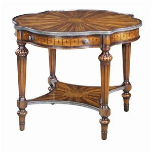 Theodore Alexander Tables Brass Bound Serpentine End Table