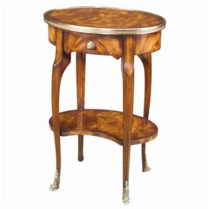 Oval Lamp End Table