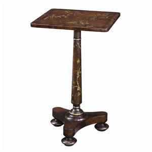 Theodore Alexander Tables Square Single Pedestal Lamp End Table