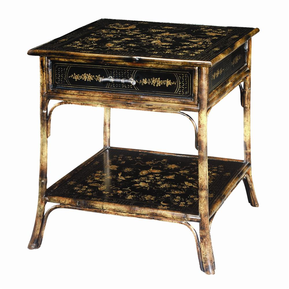 Theodore Alexander Tables Bamboo Square End Table - Item Number: 5008-003