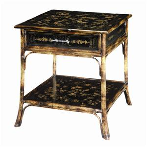 Bamboo Square End Table
