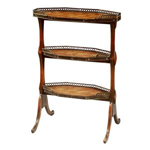 Theodore Alexander Tables Woven Leather 3 Tier End Table