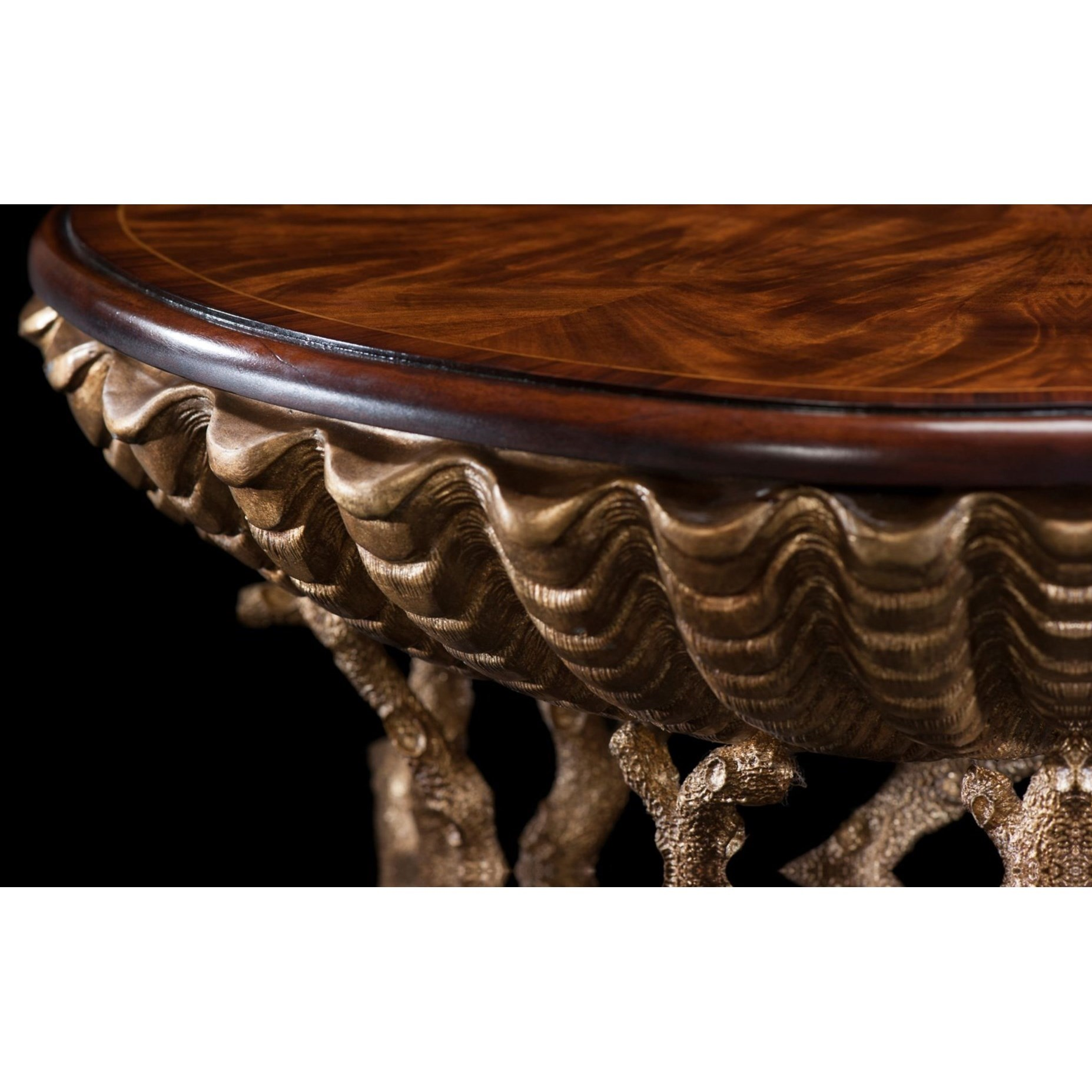Theodore Alexander Tables 5325 001 Gilt Grotto Table With
