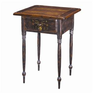 Theodore Alexander Tables American Painted Lamp End Table
