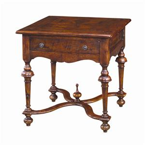 Theodore Alexander Tables Square Antique Lamp End Table