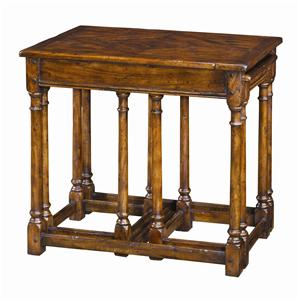 Theodore Alexander Tables 3 Antiqued Wood Parquetry Tables