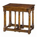Theodore Alexander Tables 3 Antiqued Wood Parquetry Tables - Item Number: CB50006