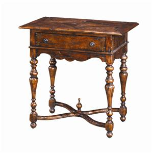 Theodore Alexander Tables 1 Drawer Antique End Table