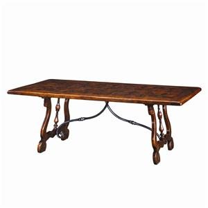 Rectangular Antiqued Wood Dining Table