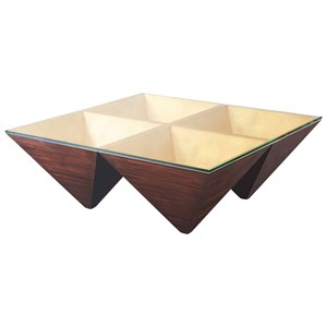 Theodore Alexander Vanucci Eclectics Pyramidal Points Cocktail Table