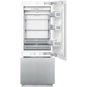 "Thermador Bottom Freezer Refrigerators - Thermador 30"" Flush Custom 2-Door Bottom Freezer"