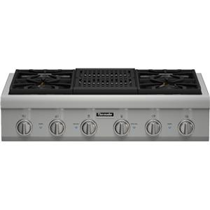 "Thermador Gas Cooktops - Thermador 36"" 4 Burner Gas Rangetop"