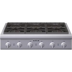 "Thermador Gas Cooktops - Thermador 36"" 6 Burner Gas Rangetop"