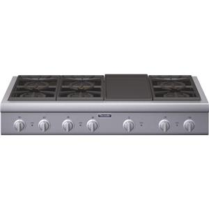 "Thermador Gas Cooktops - Thermador 48"" 6 Burner Gas Rangetop"