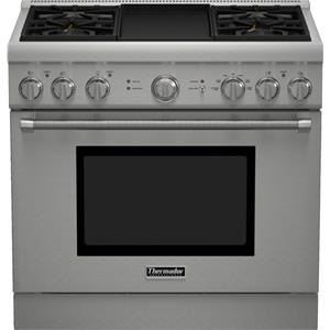 "Thermador Ranges - Thermador 36"" Pro Harmony® 4 Burner Dual Fuel Range"