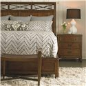 Thomasville® American Anthem King Wood Panel Bed  - Shown with Nightstand and Bench