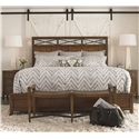 Thomasville® American Anthem King Wood Panel Bed  - Shown in Room Settings with Nightstands and Bench