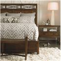 Thomasville® American Anthem Wood Bed Bench w/ Metal Stretchers  - Shown with Bed and Nightstand