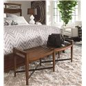 Thomasville® American Anthem Wood Bed Bench w/ Metal Stretchers  - Shown with Bed