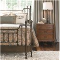 Thomasville® American Anthem King Metal Bed w/ Spindles - Shown with Nightstand