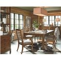 Thomasville® American Anthem Sideboard w/ Rail - Shown in Room Setting with China, Table and Chairs