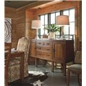 Thomasville® American Anthem Dining Sideboard w/ Honed Granite Stone Top - Shown in Room Setting