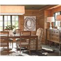 Thomasville® American Anthem Leg Table w/ Leaf Extensions - Shown in Room Setting with Sideboard and Side Chairs
