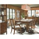 Thomasville® American Anthem Arm Chair w/ Ladder Back - Shown in Room Setting with Table, Side Chairs, Sideboard and China