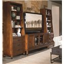 Thomasville® American Anthem Bookcase w/ 2 Drawers - Shown with Media Console