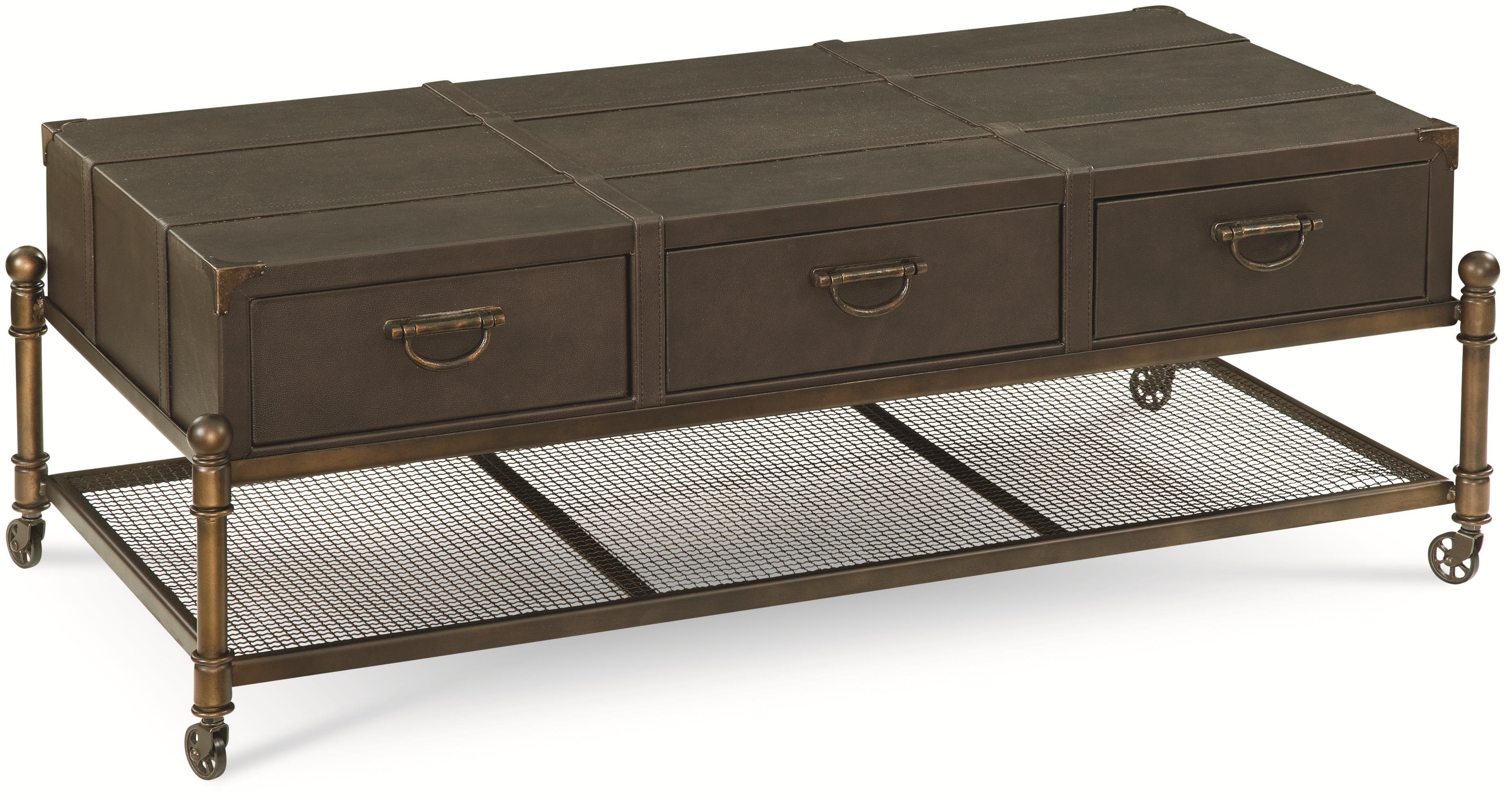 Thomasville® American Anthem Leather Cocktail Table - Item Number: 82891-160
