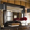 Thomasville® Brompton Hall Beveled Wall Mirror - Shown hanging above dresser