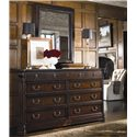 Thomasville® Brompton Hall Beveled Wall Mirror - Shown hanging vertically above dresser