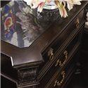 Thomasville® Brompton Hall 3-Drawer Nightstand w/ Black Absolute Granite Top - Detail of Granite Top