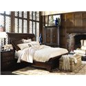 Thomasville® Brompton Hall 3-Drawer Nightstand w/ Black Absolute Granite Top - Shown with Sleigh Bed and Armoire