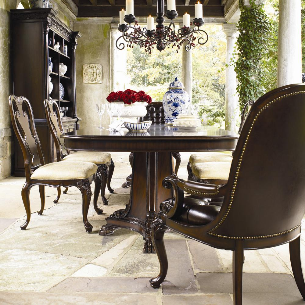 ThomasvilleR Brompton Hall 7 Piece Double Pedestal Dining Table Set