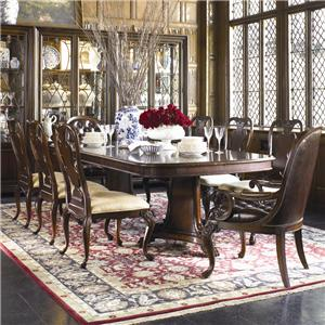 Thomasville® Brompton Hall 9-Piece Double Pedestal Dining Table Set