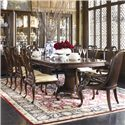 Thomasville® Brompton Hall 9-Piece Double Pedestal Dining Table Set - Item Number: 45321-782+2x888+6x821