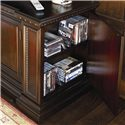Thomasville® Brompton Hall Media Console with Media Storage - Detail of side media storage