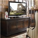 Thomasville® Brompton Hall Media Console with Media Storage - Shown with TV
