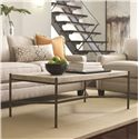 Thomasville® Cachet Rectangular Coffee Table w/ Travertine Stone Top - Shown in Room Setting