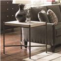 Thomasville® Cachet End Table w/ Travertine Stone Top - Shown in Room Setting