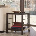 Thomasville® Canyon Grove End Table w/ Glass Insert Top - Shown in Room Setting