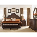 Thomasville® Casa Veneto Corina California King Bed with Arch Carved Panel Headboard