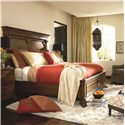 Thomasville® Cassara King Panel Bed w/ Lotus Leaf Design  - Shown in Room Setting with Night Stand