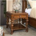 Thomasville® Cassara Drawer End Table w/ Turned Legs - Shown in Room Setting