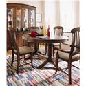 Thomasville® Color Café - Custom Dining Customizable Upholstered Side Chair - Shown with Oval Dining Table, Arm Chairs, and China Cabinet