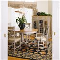 Thomasville® Color Café-Custom Dining Customizable Dining Arm Chair - Shown with Round Dining Table, Side Chairs, and Dry Goods Pantry