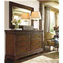 Thomasville® Deschanel Drawer Dresser w/ Crowned Top - Shown with Mirror