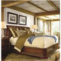 Thomasville® Deschanel Night Stand w/ 3 Drawers - Shown with Bed